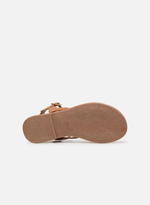Sandales et nu-pieds I Love Shoes Kanala Leather Marron vue haut