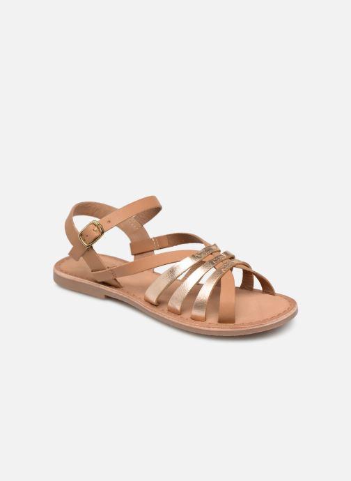 Sandalen I Love Shoes Kanala Leather Bruin detail