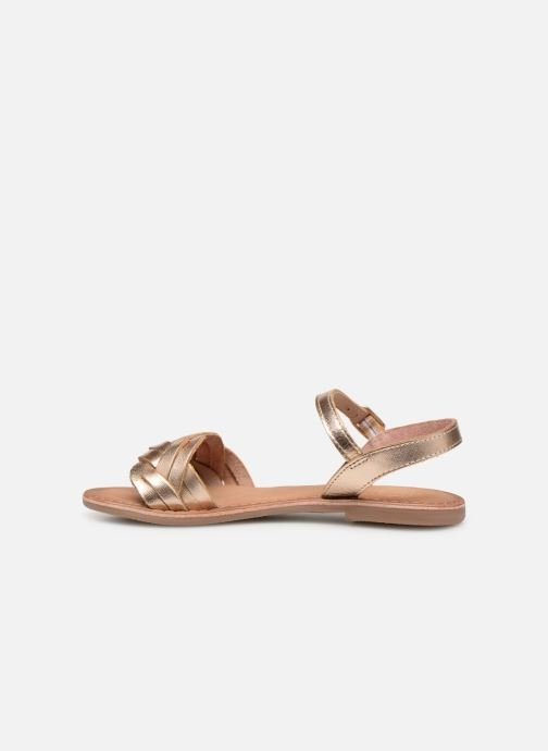 Sandales et nu-pieds I Love Shoes Kioui Leather Or et bronze vue face