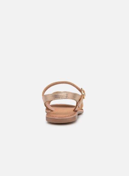 Sandales et nu-pieds I Love Shoes Kioui Leather Or et bronze vue droite