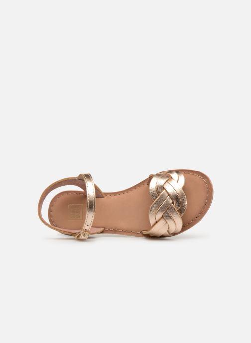 Sandales et nu-pieds I Love Shoes Kioui Leather Or et bronze vue gauche