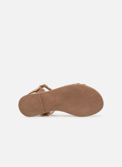 Sandales et nu-pieds I Love Shoes Kioui Leather Or et bronze vue haut