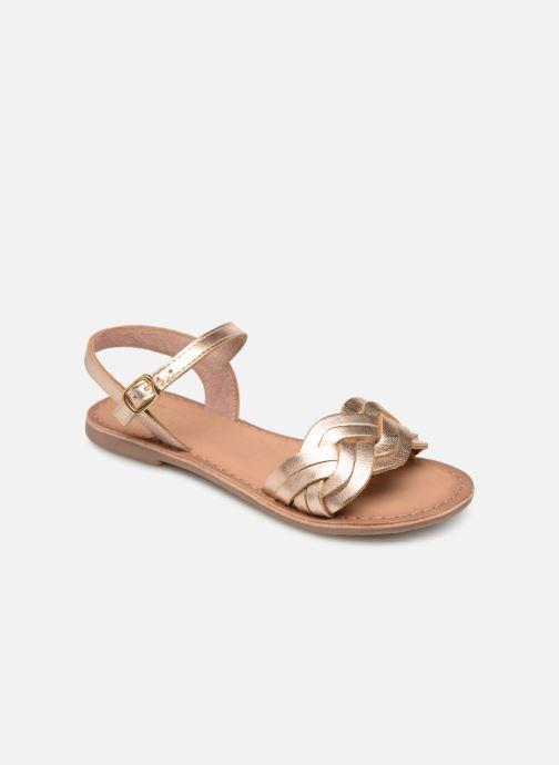 Sandales et nu-pieds I Love Shoes Kioui Leather Or et bronze vue détail/paire