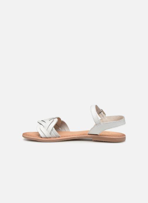 Sandales et nu-pieds I Love Shoes Kioui Leather Blanc vue face