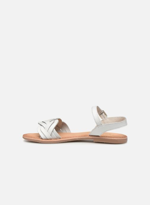 Sandals I Love Shoes Kioui Leather White front view