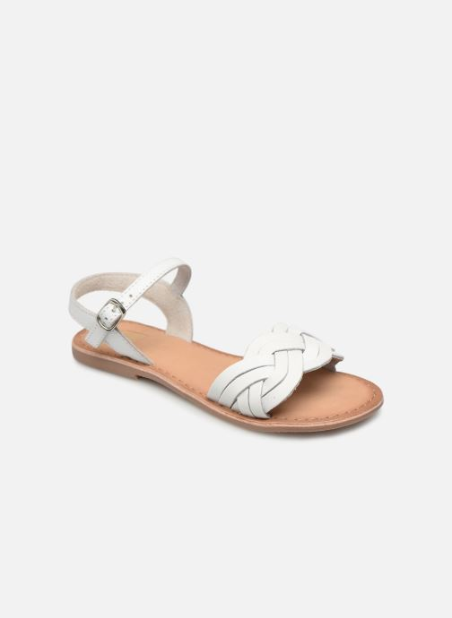 Sandals I Love Shoes Kioui Leather White detailed view/ Pair view