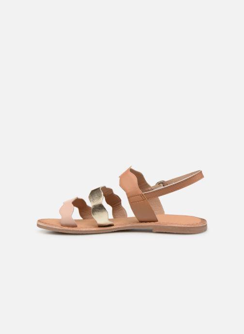 Sandales et nu-pieds I Love Shoes Kelya Leather Marron vue face