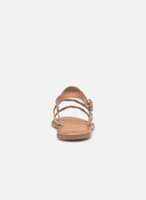 Sandales et nu-pieds I Love Shoes Kelya Leather Marron vue droite