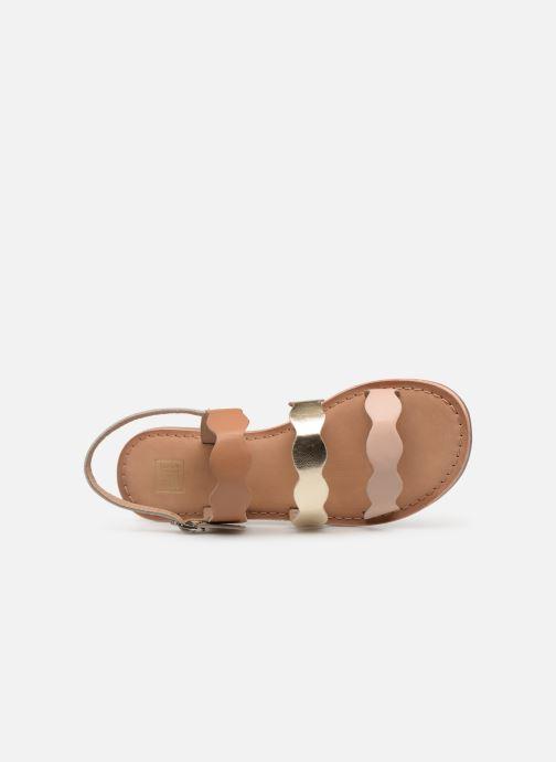Sandales et nu-pieds I Love Shoes Kelya Leather Marron vue gauche