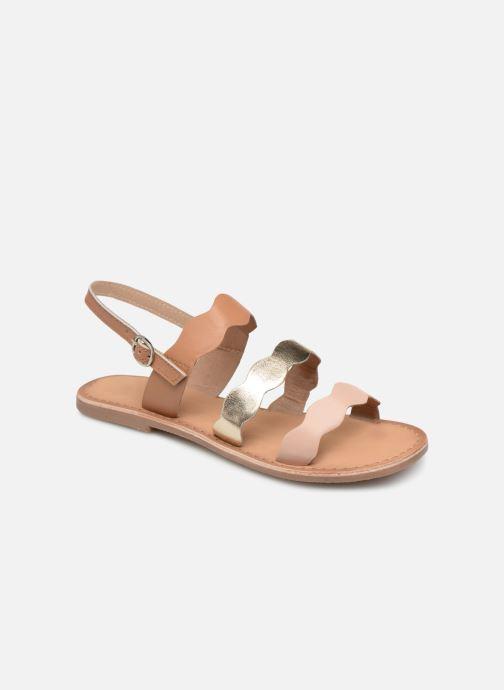 Sandales et nu-pieds I Love Shoes Kelya Leather Marron vue détail/paire