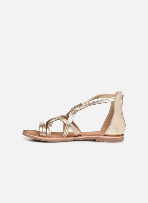 Sandales et nu-pieds I Love Shoes Kevestale Kids Leather Or et bronze vue face