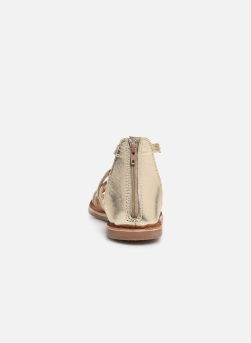 Sandals I Love Shoes Kevestale Kids Leather Bronze and Gold view from the right