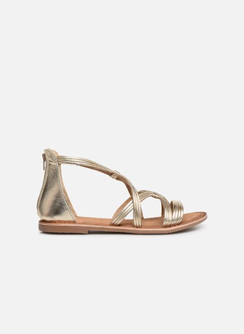 Sandals I Love Shoes Kevestale Kids Leather Bronze and Gold back view