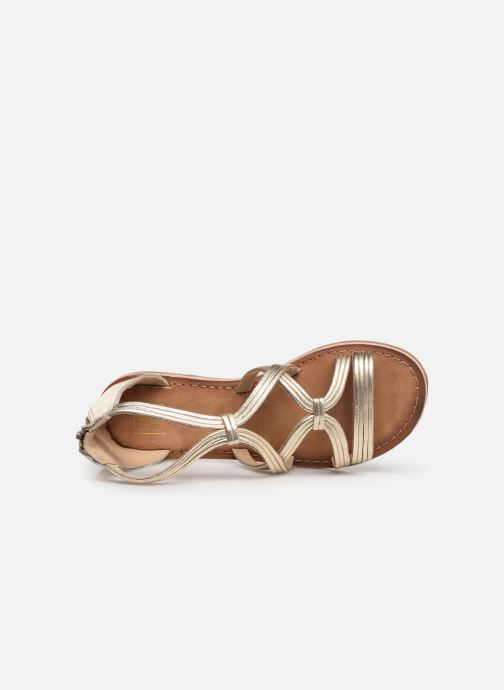 Sandals I Love Shoes Kevestale Kids Leather Bronze and Gold view from the left