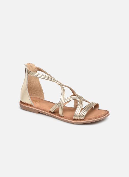 Sandales et nu-pieds I Love Shoes Kevestale Kids Leather Or et bronze vue détail/paire