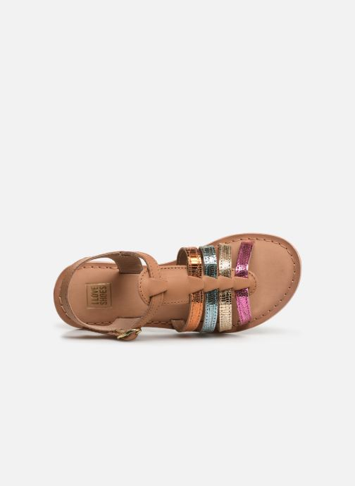Sandales et nu-pieds I Love Shoes Kimiko Leather Multicolore vue gauche