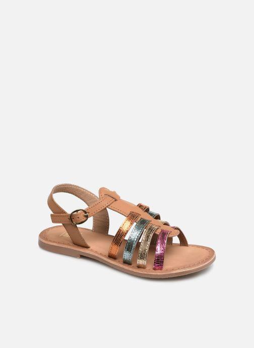 Sandales et nu-pieds I Love Shoes Kimiko Leather Multicolore vue détail/paire
