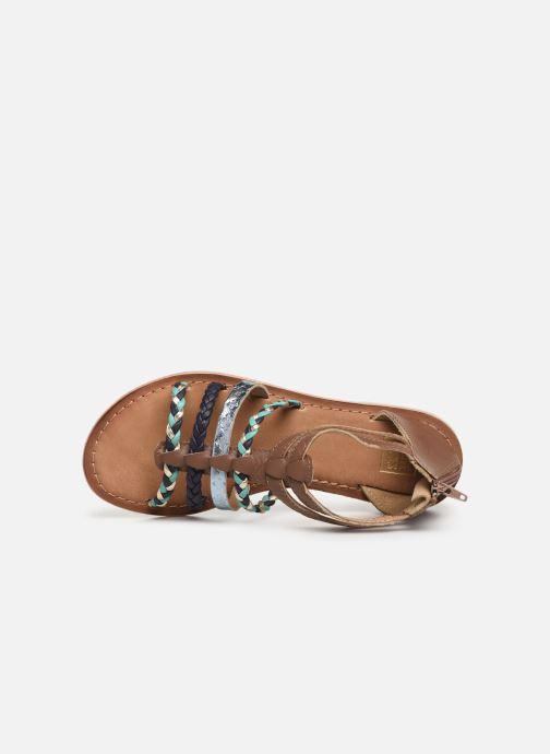 Sandalias I Love Shoes Ketina Leather K Marrón vista lateral izquierda