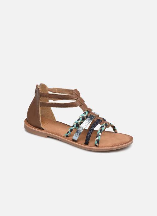Sandales et nu-pieds I Love Shoes Ketina Leather Marron vue détail/paire