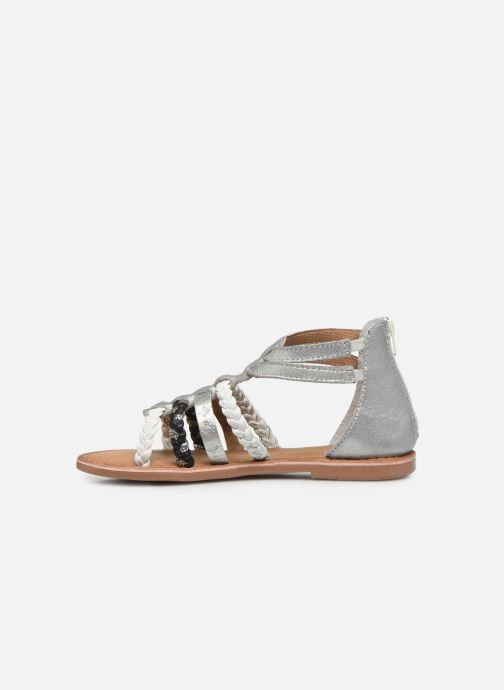 Sandalias I Love Shoes Ketina Leather K Plateado vista de frente