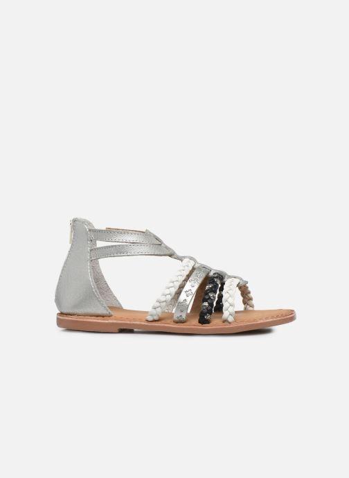 Sandalias I Love Shoes Ketina Leather K Plateado vistra trasera