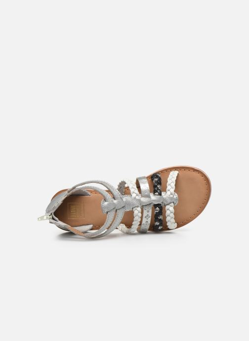 Sandalias I Love Shoes Ketina Leather K Plateado vista lateral izquierda