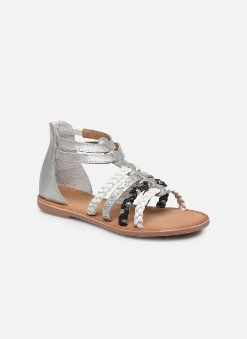 Sandales et nu-pieds I Love Shoes Ketina Leather K Argent vue détail/paire