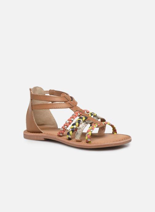 Sandales et nu-pieds I Love Shoes Ketina Leather K Marron vue détail/paire