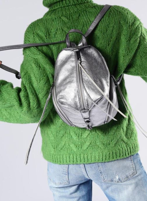 Rucksacks Rebecca Minkoff Medium Julian Backpack Grey view from underneath / model view