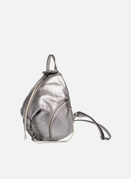 Sacs à dos Rebecca Minkoff Medium Julian Backpack Argent vue portées chaussures
