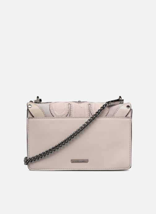 Sacs à main Rebecca Minkoff Biker mini Crossbody Gris vue face