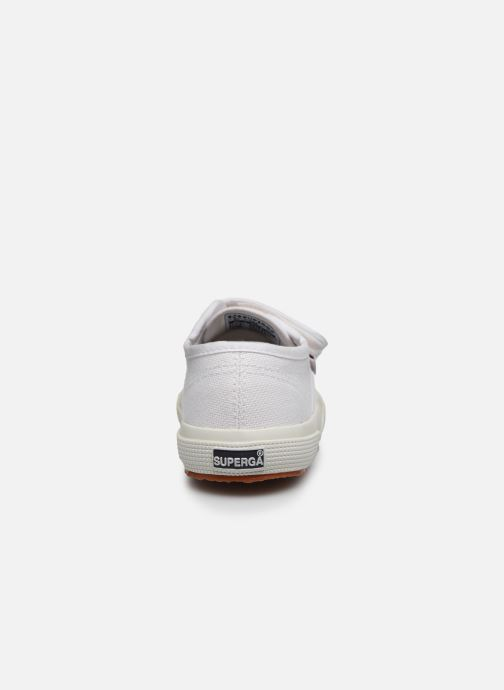 Baskets Superga 2750 J Velcro E C Blanc vue droite