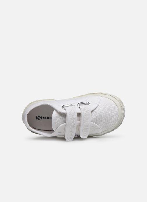Baskets Superga 2750 J Velcro E C Blanc vue gauche