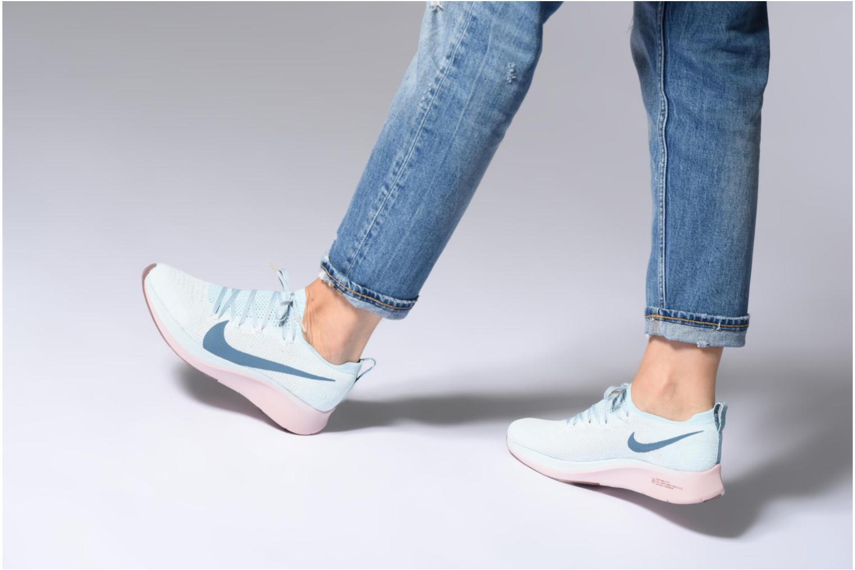 Sportschuhe Nike W Nike Zoom Fly Flyknit schwarz ansicht von unten / tasche getragen
