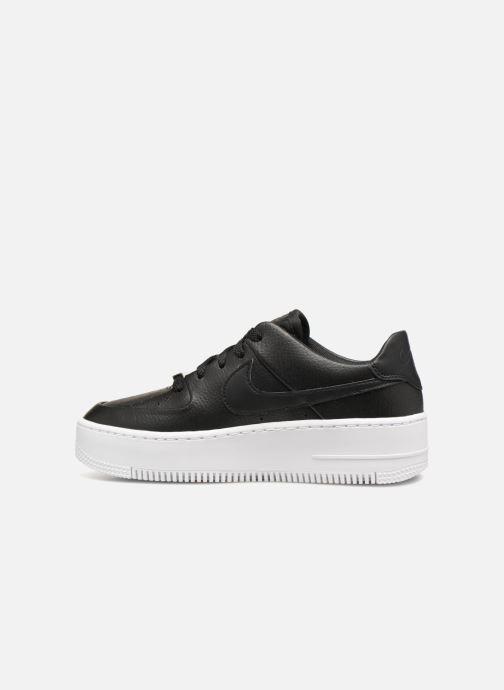 Sneaker Nike Wmn Air force 1 Sage Low schwarz ansicht von vorne