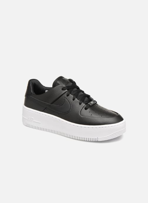 Baskets Nike Wmn Air force 1 Sage Low Noir vue détail/paire