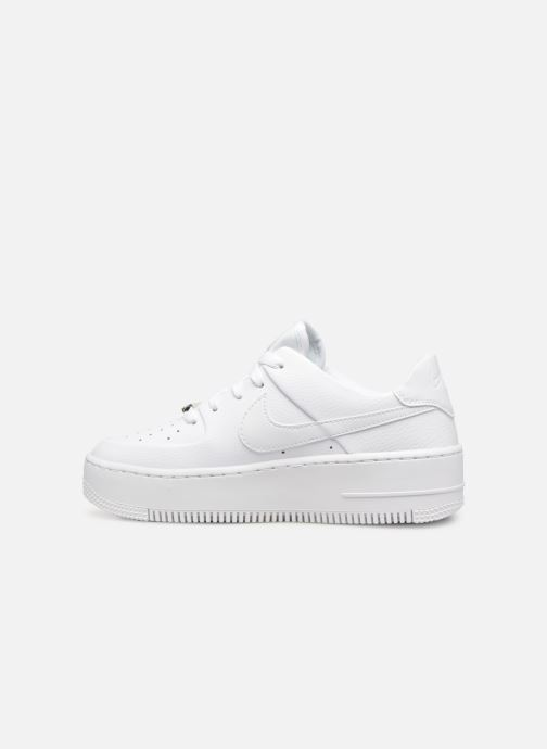 Baskets Nike Wmn Air force 1 Sage Low Blanc vue face