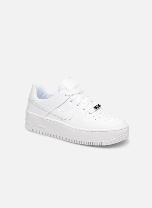 online store 6b7ed 95a15 Baskets Nike Wmn Air force 1 Sage Low Blanc vue détail paire