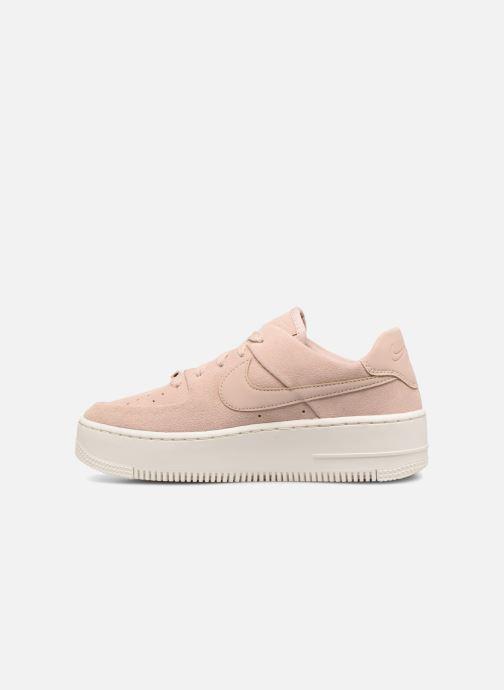 Baskets Nike Wmn Air force 1 Sage Low Rose vue face