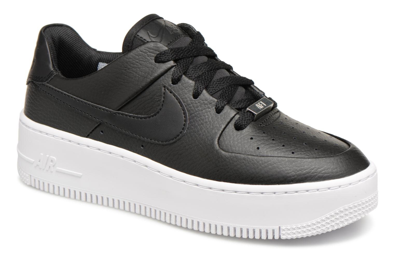 Baskets Nike Wmn Air force 1 Sage Low Noir vue détail/paire