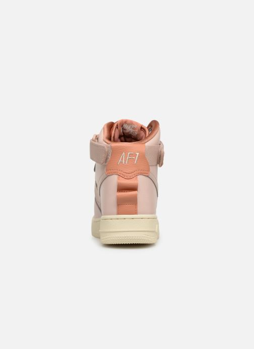 Trainers Nike W Af1 Hi Ut Pink view from the right