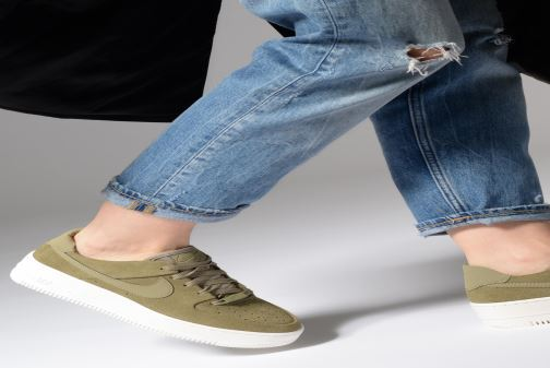 61d0fb4a3e6 Trainers Nike W Air force 1 Sage Low Green view from underneath   model view