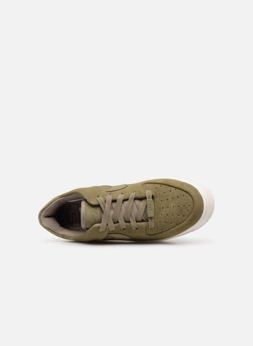 Trainers Nike W Air force 1 Sage Low Green view from the left