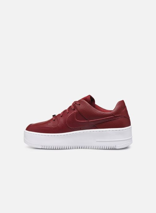 Nike W Air force 1 Sage Low (Rouge) Baskets chez Sarenza
