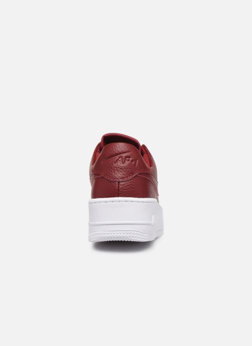 Baskets Nike W Air force 1 Sage Low Rouge vue droite