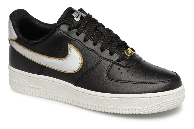 Baskets Nike Wmns Air Force 1 '07 Mtlc Noir vue détail/paire