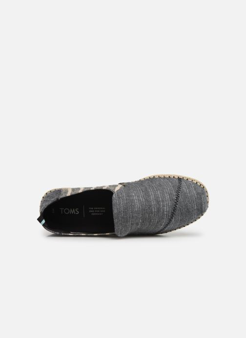 Espadrilles TOMS Deconstructed Alpargata Rope Grey view from the left