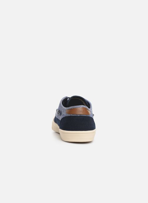 Zapatos con cordones TOMS Dorado Azul vista lateral derecha