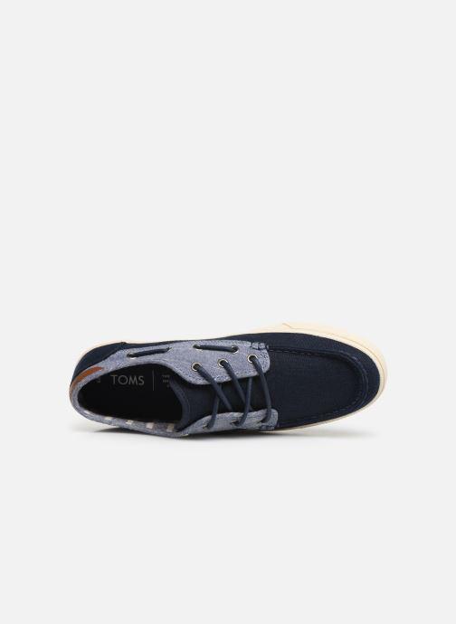 Zapatos con cordones TOMS Dorado Azul vista lateral izquierda
