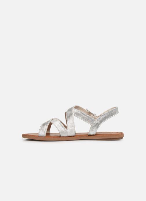 Sandales et nu-pieds TOMS Sicily Argent vue face